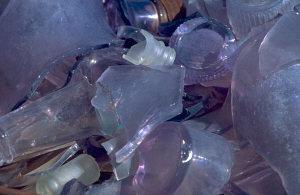 broken glass bottles