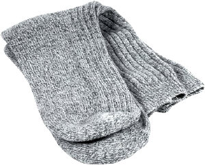 gray knit socks